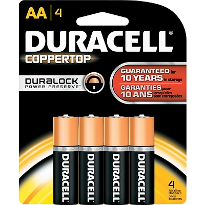 Duracell® Alkaline AA Batteries, 4-Pack