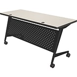Balt Trend 60x24 Flipper Table, Black Frame, Gray Mesh