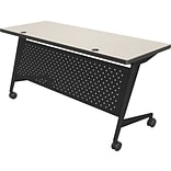 Balt Trend 72x24 Flipper Table, Black Frame, Gray Mesh