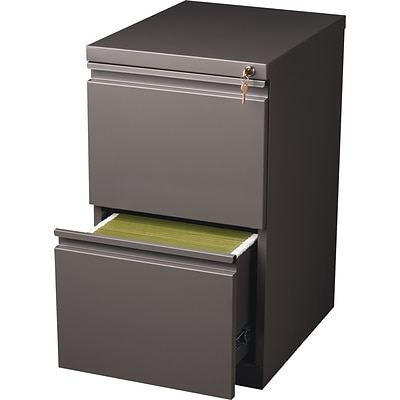 Quill 2-Drawer Mobile Pedestal File Cabinet, Medium Tone (20-Inch)