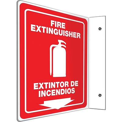 Accuform® Safety Projection™ Sign, FIRE EXTINGUISHER, 12 x 9 Panel