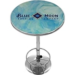 Trademark Global® 28 Solid Wood/Chrome Pub Table, Blue, Blue Moon