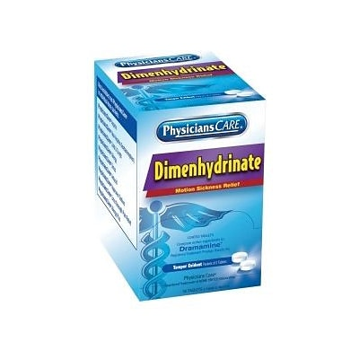 PhysiciansCare® Motion Sickness Tablets, 100/Box