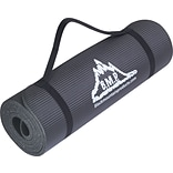 Black Mountain Products® Yoga & Exercise Mat; 73-1/2 x 24-1/2, Black