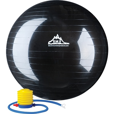 Black Mountain Products® Exercise Ball; 2000lbs. Static Strength Exercise Stability Ball, 55CM
