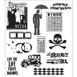 Stampers Anonymous Tim Holtz 7 x 8 1/2 Large Cling Stamp Set, Mini Muse|