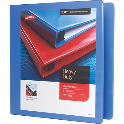 1-1/2 Heavy-Duty View Binder with D-Rings, Periwinkle