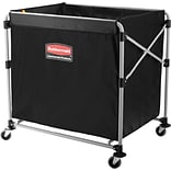 Rubbermaid® Collapsible X-Cart, 8 Bushel, Black