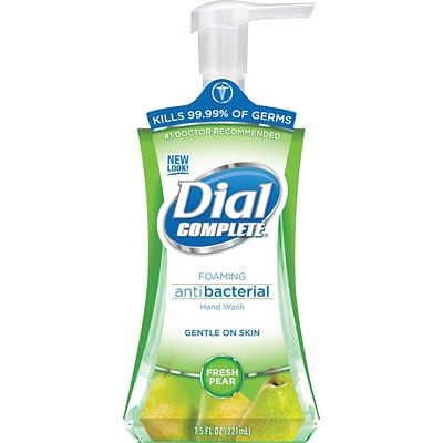 Dial Complete® Foaming Hand Wash; Fresh Pear Scent, 7.5oz., 8/Carton
