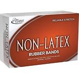 Alliance Orange Non-Latex Rubber Bands, #64 (3-1/2 x 1/4), 1 lb. Box