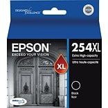 Epson DURABrite Ultra 254XL Black Ink Cartridges (T254XL120-S); Extra High Yield