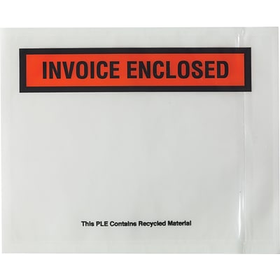 Back-Loading Packing List Envelopes, Invoice Enclosed, 4 1/2 x 5 1/2, 1000/Case (150CT4)