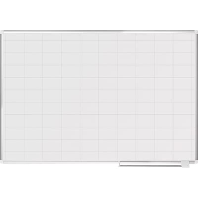 Mastervision Grid Planning Board, 2X3 Grid, 48X72, White/Silver