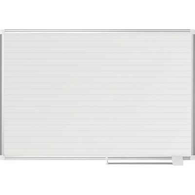 Mastervision Ruled Planning Board, 36X48, White/Silver