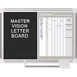 MasterVision In-Out and Notice Board, Silver Frame, 18Hx24W