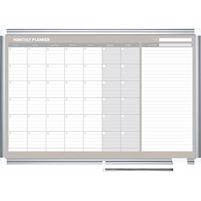 MasterVision Monthly Planner, 36x24