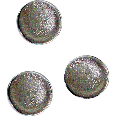 MasterVision Super Strong Magnets, Silver, 10/Pack