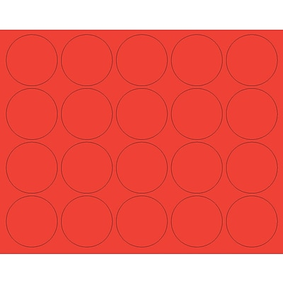 MasterVision Interchangeable Circle Magnets, Red, 3/4 Dia., 20/Pack
