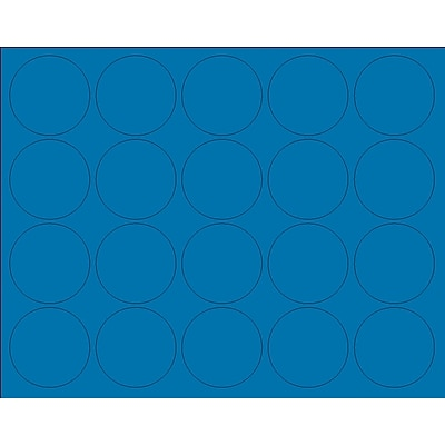 MasterVision Interchangeable Circle Magnets, Blue, 3/4 Dia., 20/Pack