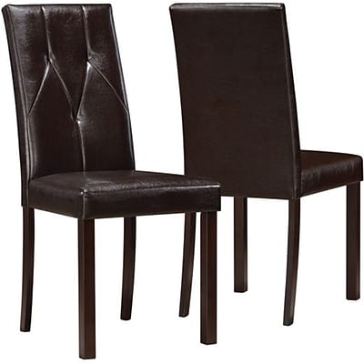 Dark Brown Leather-Look 38H Dining Chair / 2Pcs Per Ctn