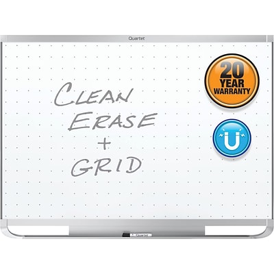 Quartet® Prestige® 2 Total Erase® Magnetic Whiteboard, 4 x 3, Aluminum
