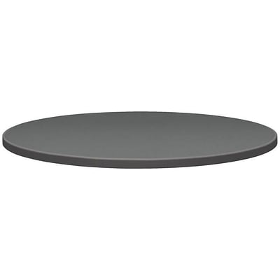 Self-Edge Round Hospitality Table Top, 42 Dia., Steel Mesh Pattern, Charcoal