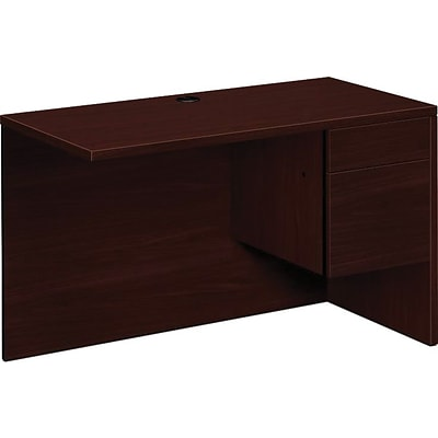 HON 10500 Series Right Return, 48W, Mahogany, 29 1/2H x 48W x 24D