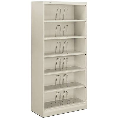 HON® Brigade® 600 Series Open Shelving Lateral Files, Legal-Size, Light Grey