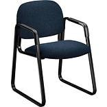 HON® Solutions - 4000 Series Sled Base Guest/Side Chair, Fabric, Blue, Seat: 20W x 18 1/4D, Back: