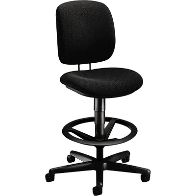 HON® ComforTask Task/Computer Chair, Fabric, Black, Seat: 20W x 17D, Back: 16 1/4W x 15 1/4- 17 3/4H