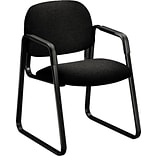 HON® Solutions - 4000 Series Sled Base Guest/Side Chair, Fabric, Black, Seat: 20W x 18 1/4D, Back:
