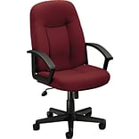 basyx by HON® HVL601 High-Back Task Chair, Fabric, Burgundy, Seat: 20 1/2W x 17D, Back: 20 1/2W x