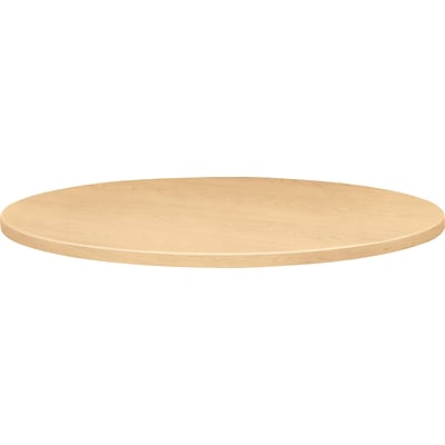 Self-Edge Round Hospitality Table Top, 42 Dia., Natural Maple