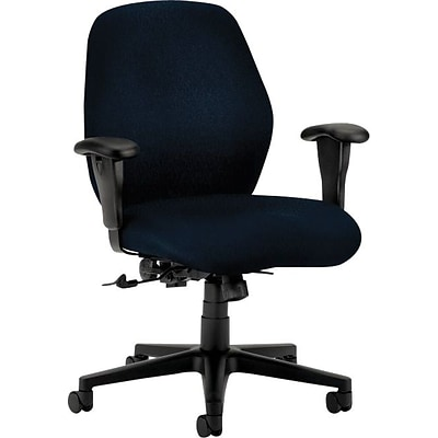 HON® 7800 Series Task Chairs, Mid-Back, Navy