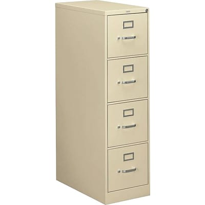 HON® 310 Series Vertical File Cabinet, Letter, 4-Drawer, Putty, 26 1/2D