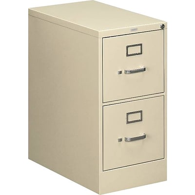 HON 510 Series 2 Drawer Vertical File Cabinet, Putty/Beige, Letter, 25D