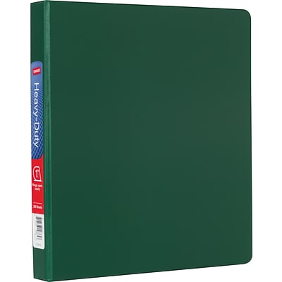 Heavy-Duty 1-Inch Slant D-Ring Non-View Binder, Green (24649-US)