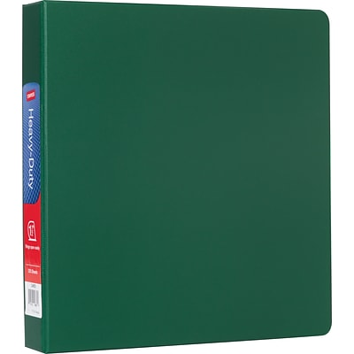 1-1/2 Heavy-Duty Binder with D-Rings, Green