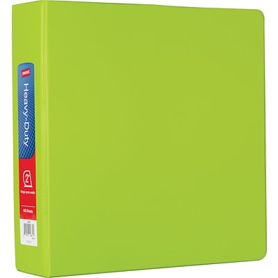 2 Heavy-Duty Binder with D-Rings, Chartreuse