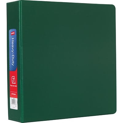 Heavy-Duty 2-Inch D-Ring Nonview Binder, Green  (24657-US)