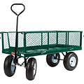 Farm Tuff 24 x 48 Metal Deck with Wagon Fold Down Sides Green