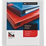 Staples Heavy-Duty .5-inch View Binder, White (26316)