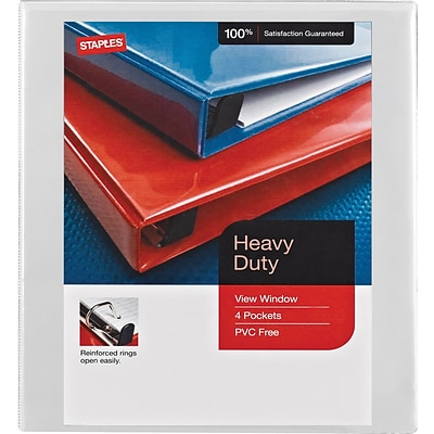 heavy duty 5 inch view binder white 26316 quill com