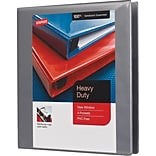 1 Staples® Heavy-Duty View Binder with D-Rings, Gray