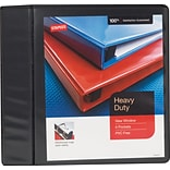 1/2 Staples® Heavy-Duty View Binder with D-Rings, Black