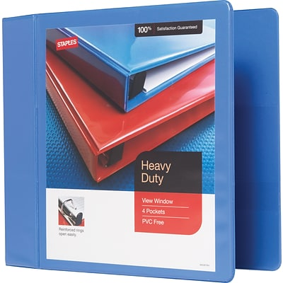 4-Inch Heavy-Duty Slant D-Ring View Binder, Periwinkle (24697-US)