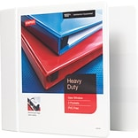 Staples  Heavy-Duty 5-Inch D 3-Ring View Binder, White (24700-US)