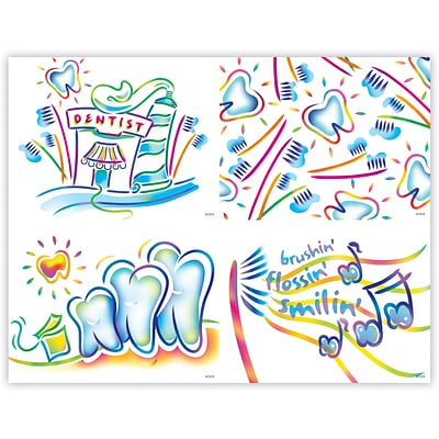Dental Assorted Laser Postcards, Techno Art Deluxe