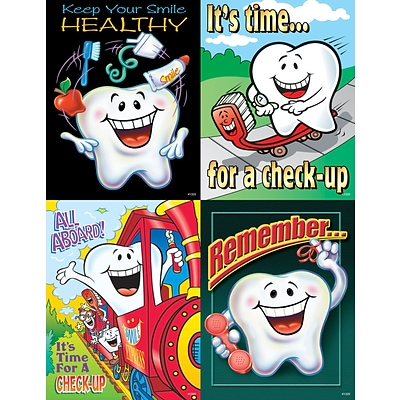Dental Assorted Laser Postcards, Smile Team™ Tooth Guy