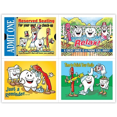 Dental Assorted Laser Postcards, Smile Team™ Admit One
